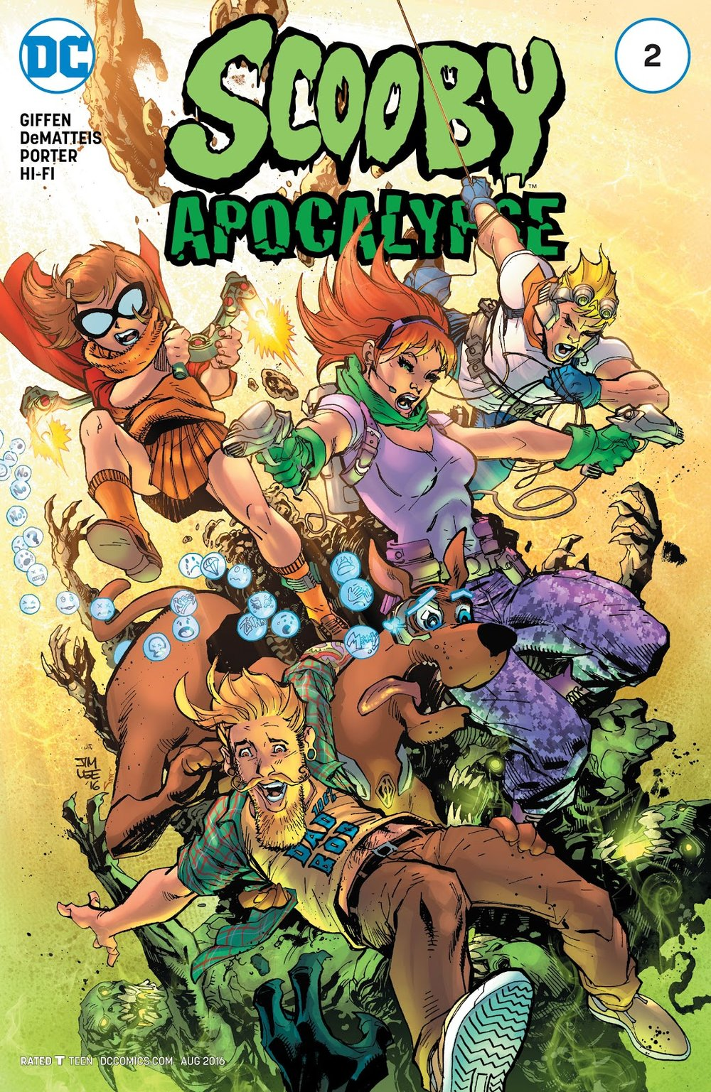 "Scooby Apocalypse - Issue #2 - ""Apocalypse Right Now!"" - Cover by Jim Lee & Alex Sinclair"