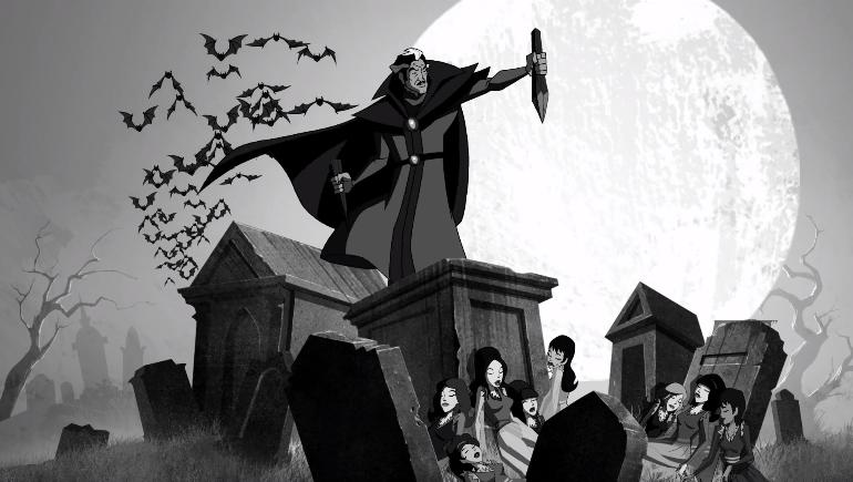 Elsewhere, Vanessa Van Ghoul kills a bunch of dude vampires.