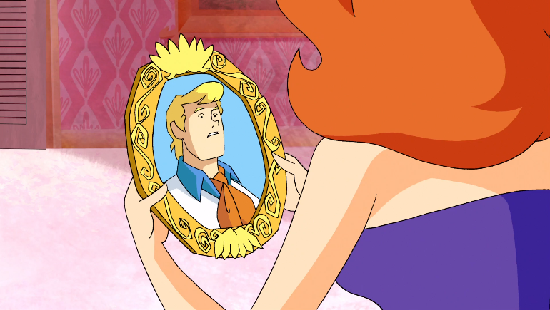 Even Fred's picture seems to think of Daphne exclusively as a friend.