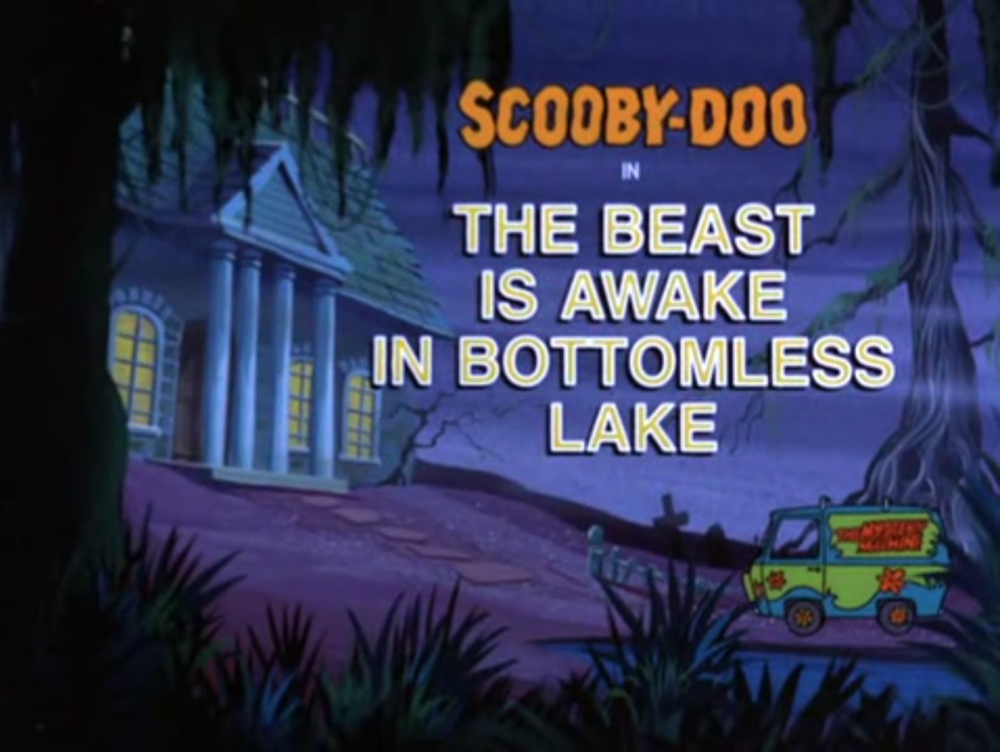 """Scooby Doo, Where Are You!  - Season 3, Episode 16: """"The Beast is Awake in Bottomless Lake"""" - Title Animation by Unknown"""