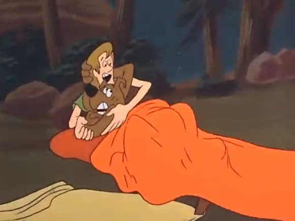 While camping, Scooby and Shaggy realize that camping is scary and gross.