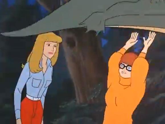 """""""C'mon, Julie! All hail the flying fishmonster! Why aren't you hailing the flying fishmonster?"""""""