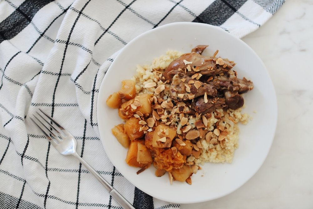 RealEats Lamb Tagine with Onion Couscous and Sweet Potatoes and Apples