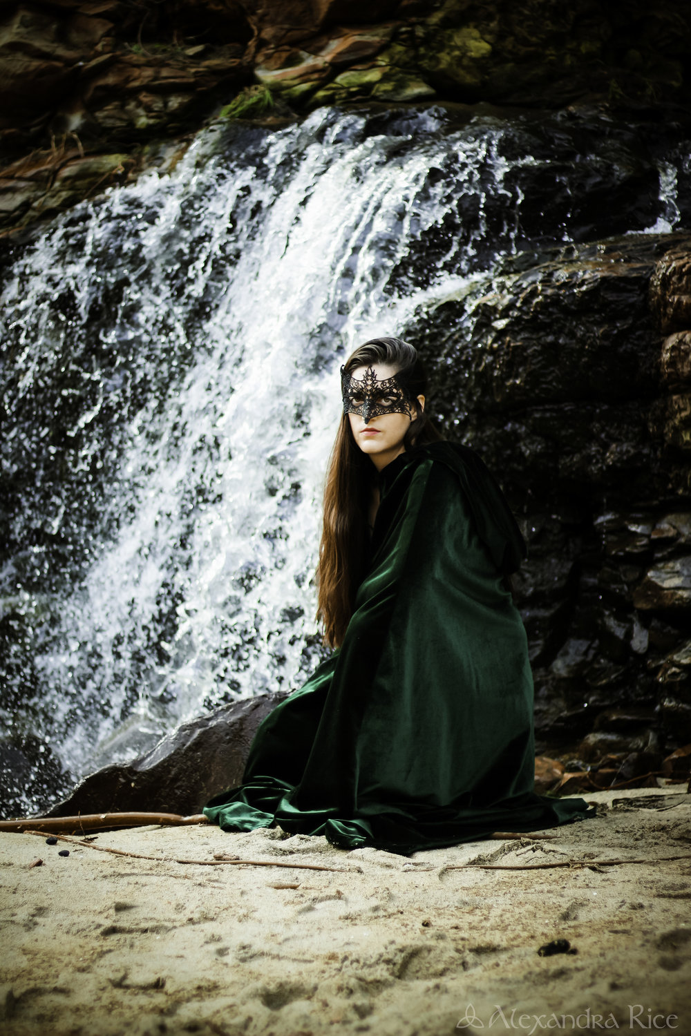 alexandra-rice-photography-k.m.rice-author-fantastical-photoshoot-highway-one-waterfall-mask-mystical-fantasy-epic.jpg