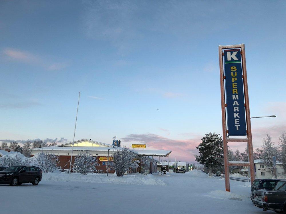 Supermarket at Kittila Town