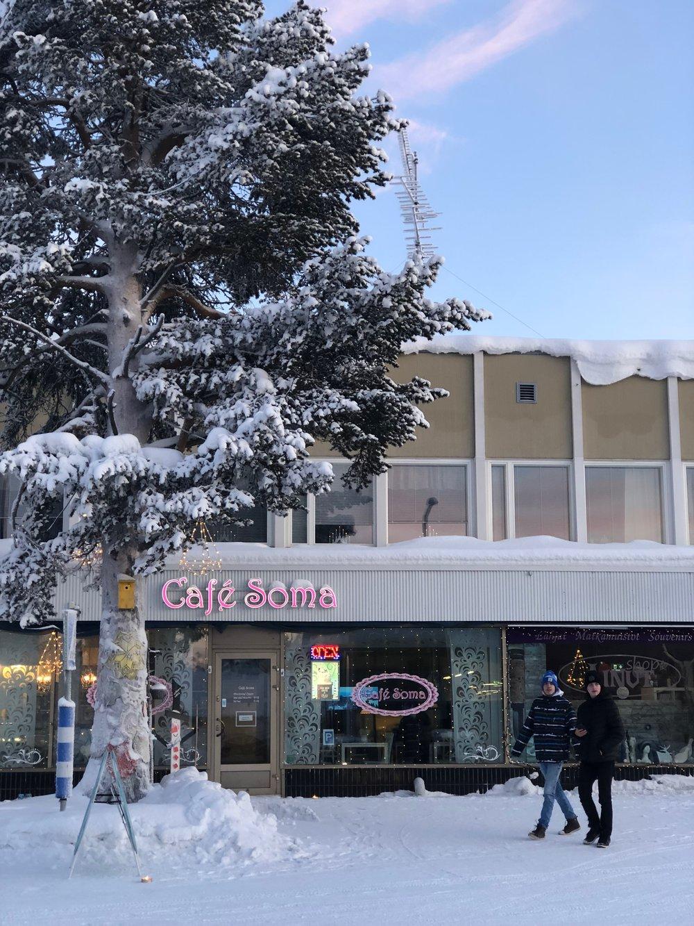 Shop and Cafe at Kittila