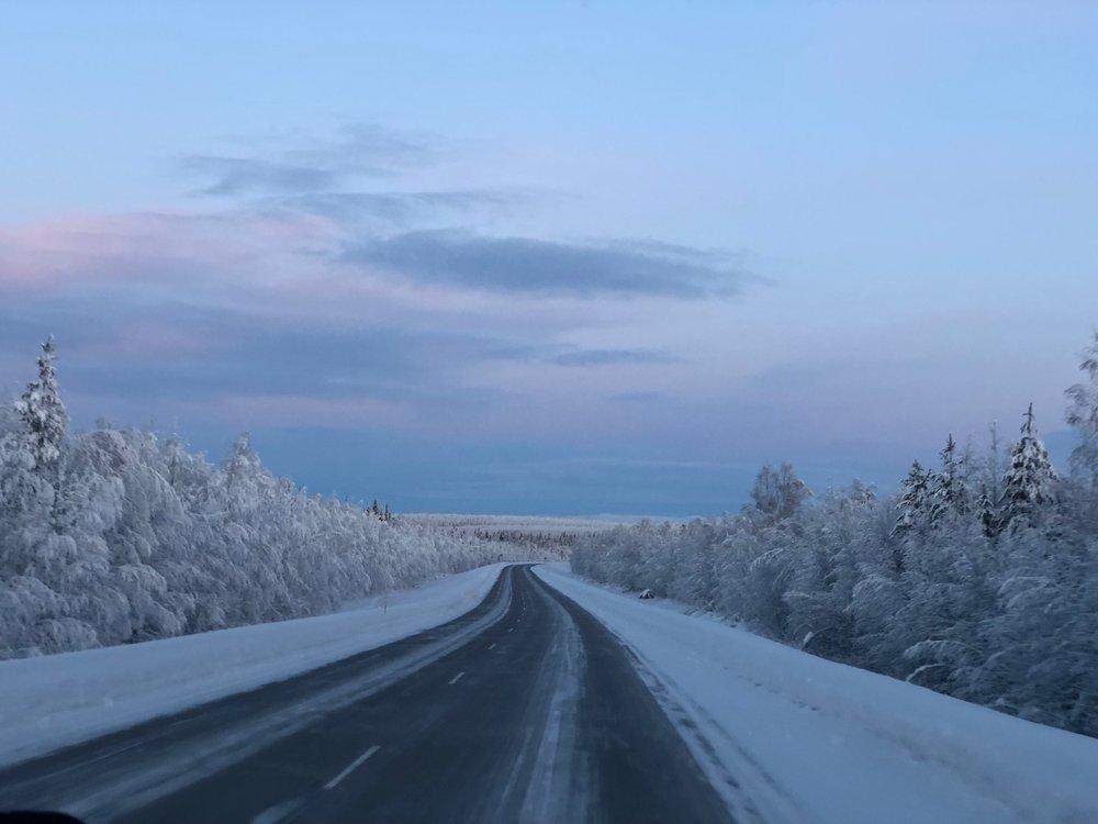 Main Road from Kaukonen to Kittila
