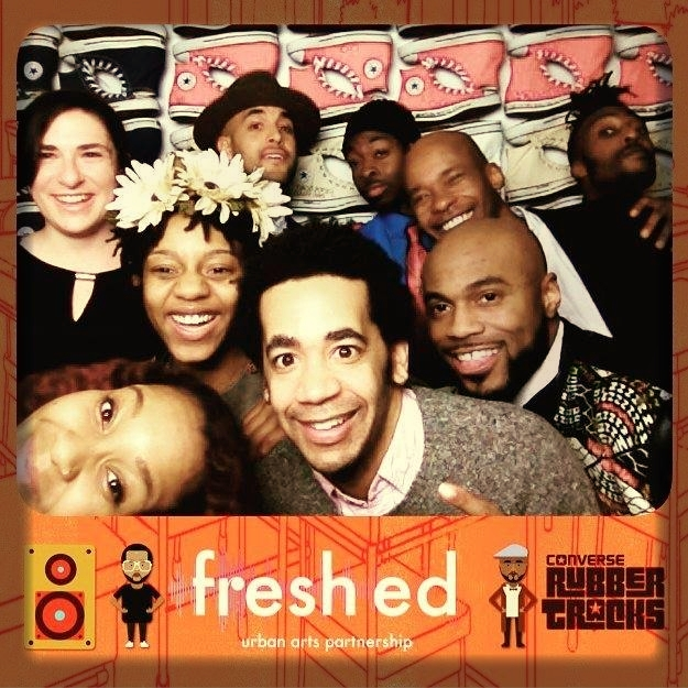My first job out of college was working with this amazing team integrating hip hop, music, and youth culture into middle and high school classes that students need to pass in order to graduate.