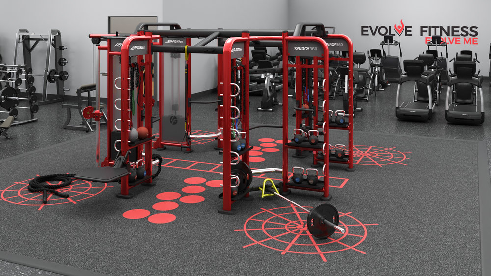 Our gym is packed with the best equipment. One of our favorites is the SYNEGY360, which will provide an amazing workout.