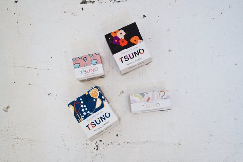 Tsuno natural sanitary products sustainable and organic with 50 of profits donated to one