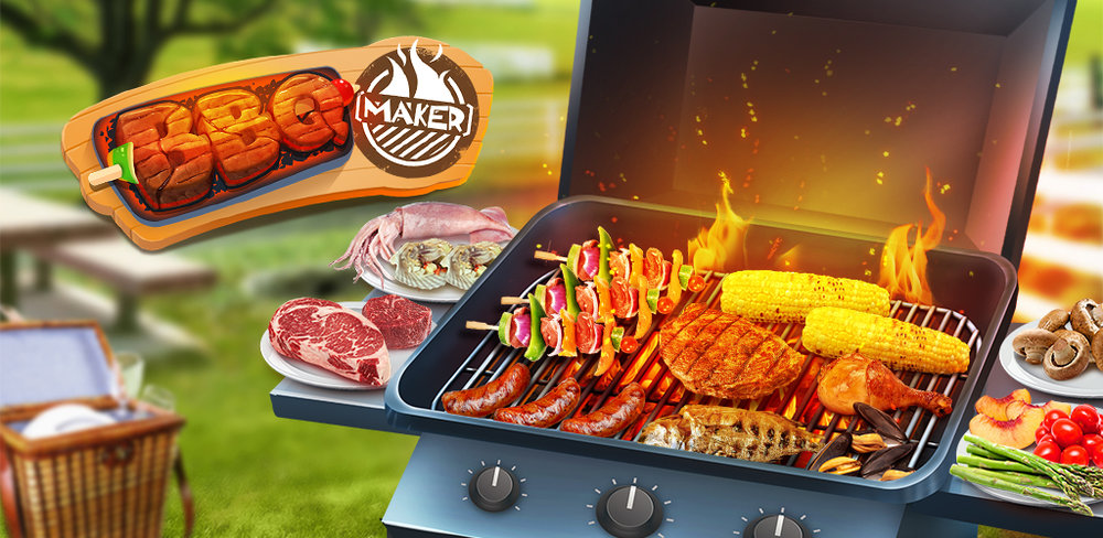 BBQ Kitchen Grill Cooking Game  Summertime is the best time for throwing an amazing barbeque party for your family and friends! Get your BBQ grill out, and start cooking up some tasty treats in this kitchen food maker. Play today!