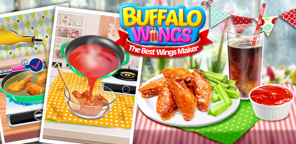 Buffalo Wings: Food Game  In this buffalo wings making game, you have everything you need to make the best buffalo wings meal you'll ever eat!