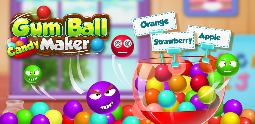 Gum Ball Candy Maker               Chewing gum is so much fun! Chewing all the different flavors and getting to blow bubbles. You can be in charge of making your own gumballs in this fun candy making game.