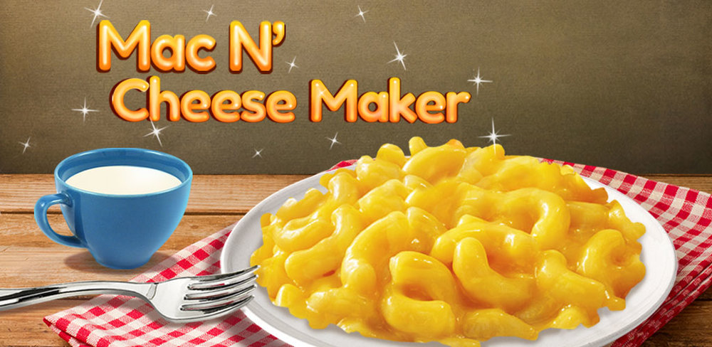 Mac & Cheese: Food Game         In Mac N' Cheese Maker, use your super chef skills and get to cooking! The stovetop is ready, so grab a pot and add some water.