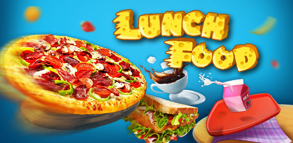 Make Lunch Box: Kids Food Game   Pizza and sandwiches are great meals that can be built into a yummy lunch. Add something to drink, some fruit to keep it healthy and a tasty dessert for that sweet tooth of yours.