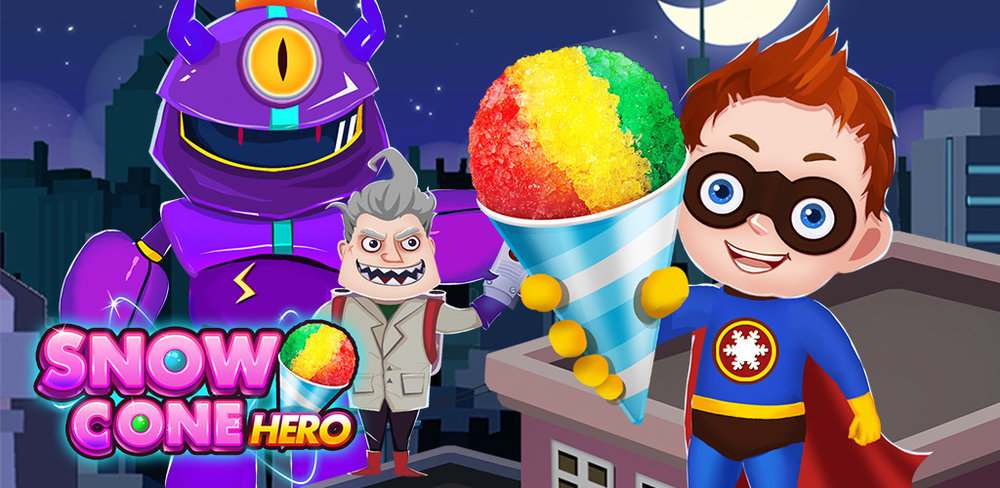Snow Food Maker Cooking Game    Help us Captain Freeze! Dr. Evil is attacking Mega City again! It is your job as a superhero to defeat him! Get your super powers from magical snow cones and save the world from the bad guys!