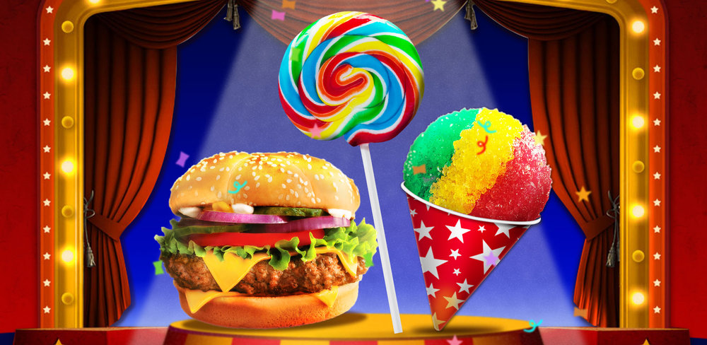 Make Frozen Snow Cone, Yummy Hamburger & Sweet Lollipop  Create tasty ice drinks, fried food, hamburgers, holiday treats, lollipops and so much more, all with this one amazing app. The food'll look so tasty, you'll want to eat your phone!