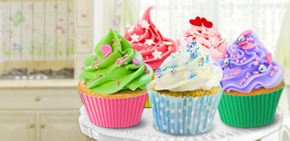 Dessert Maker - Super Chefs!              Shape and bake donuts one by one, decorating them with sprinkles and candy toppings. Make a birthday cake, frost cupcakes, shape ice cream and add sweet vanilla topping on your favorite banana split.