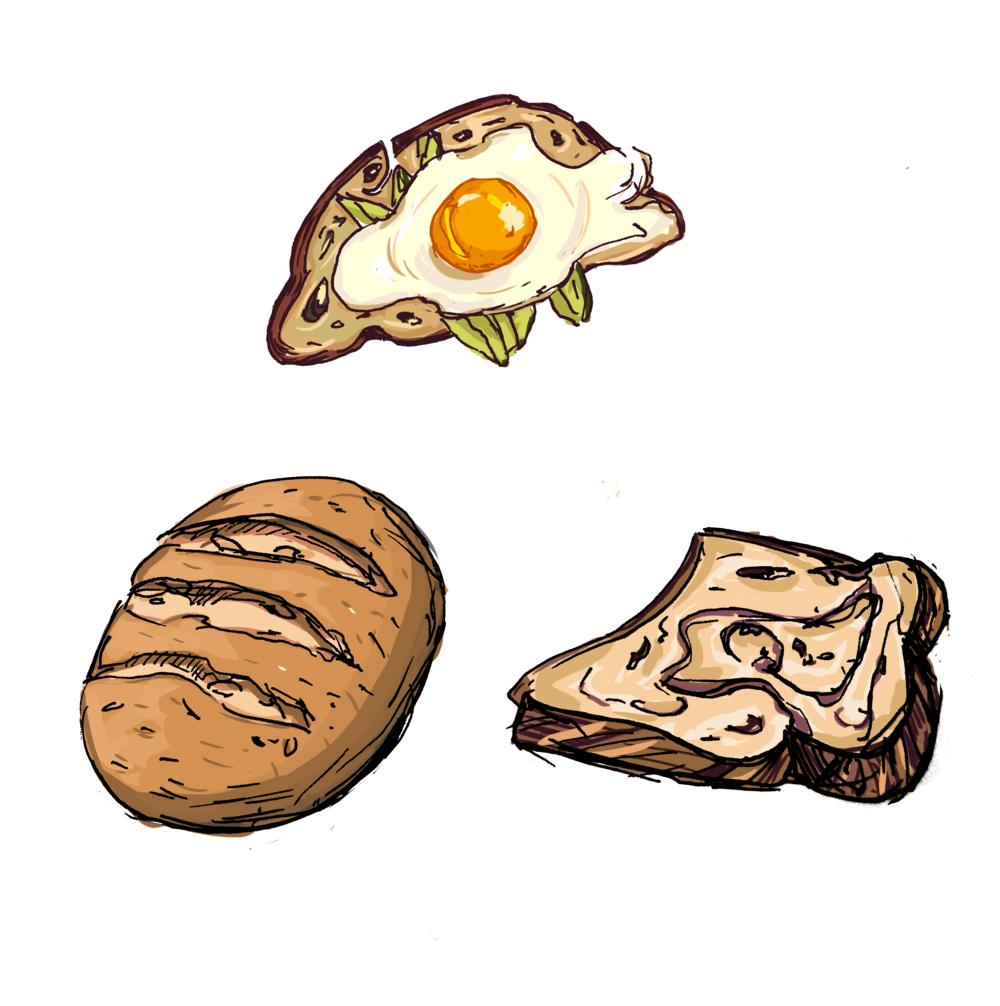 Bread and more bread.