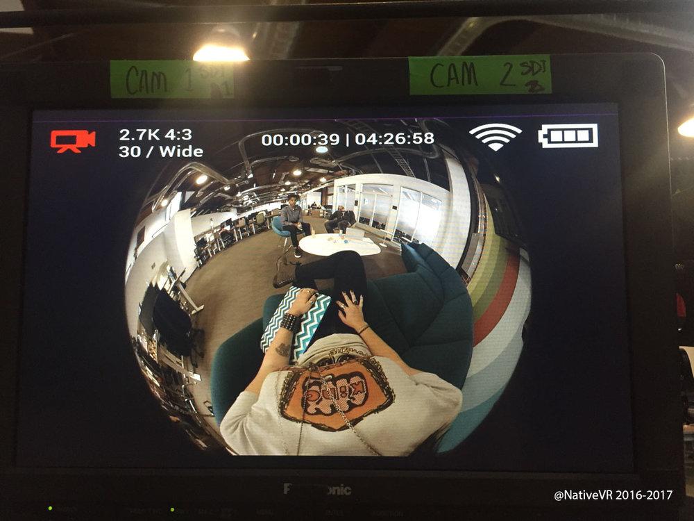 Custom camera for VR content