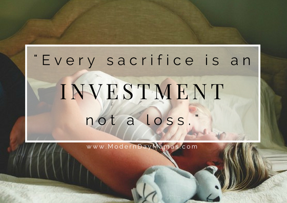 Motherhood is an investment