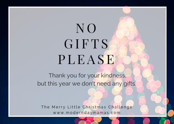 No Gifts Please