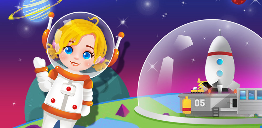 Baby Astronaut: Future Mission  Baby Astronaut is soaring through space with his friends – and you're one of them! Can you believe it? You get to meet amazing aliens, discover strange new worlds and have the experience of a lifetime!