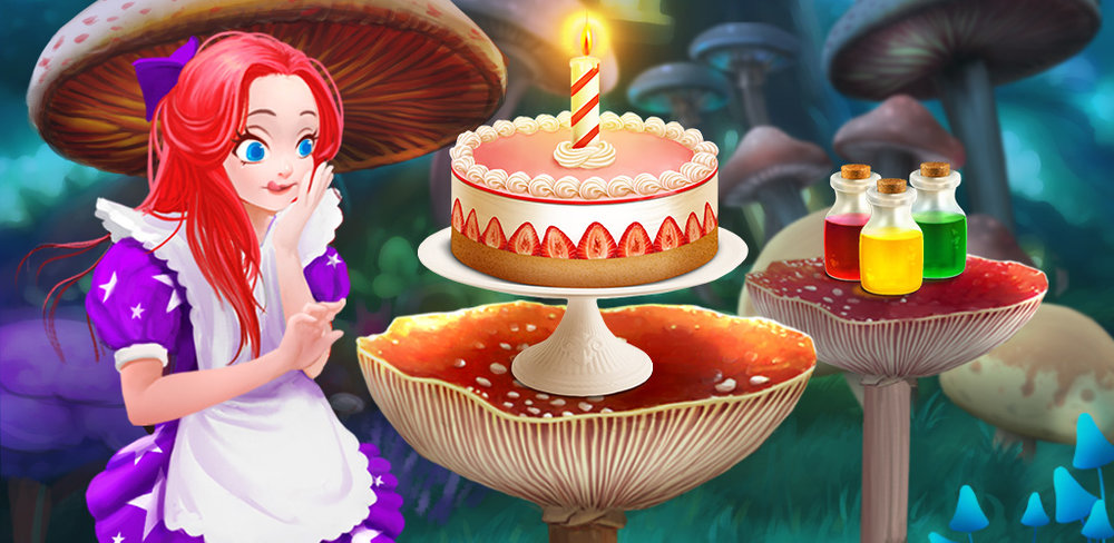 Fairy Tale Food: Magic Bakery!  It's time to have a tea party with Alice! Fairy Tale Food: Magic Bakery tells the story of Alice and her sweet adventures down the rabbit hole.