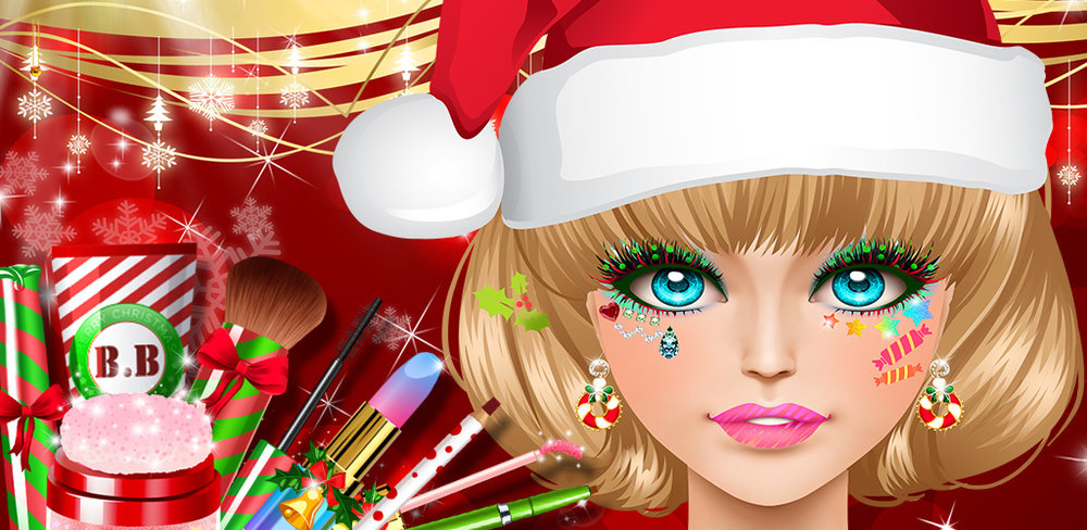 Christmas Party - Beauty Salon  Ever had Christmas in July? It is on its way and there is no time to lose!!! This is the perfect app to help you little fashionistas out there get ready to become the shining star of the party!