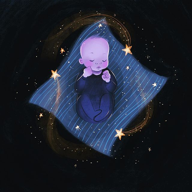 We love our little Max so much. Having him here feels like magic🌟 . . . . . . . . . . . #illustration #illustrationforchildren #illustrationoftheday #illustrationofinstagram #illustrationdaily #childrensbookillustration #bookcoverillustration #procreateapp #parenthood #newborn #newbornphotographer #digitalpainting #digitalart