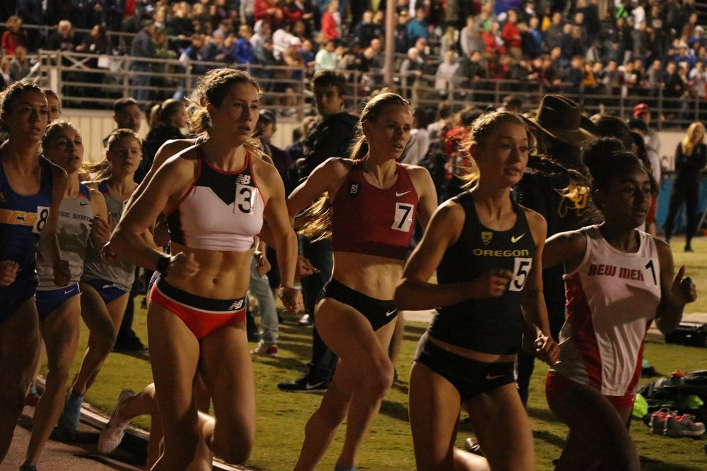 Racing the 1500 at the Bryan Clay Invite in Azusa, CA
