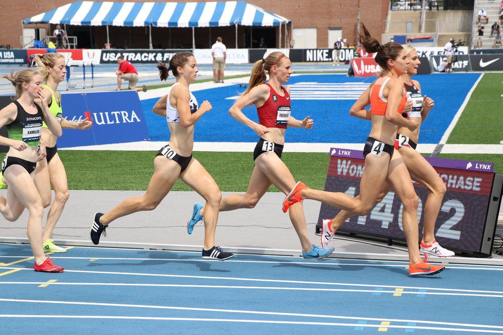 2018 USATF National Champs 3k steeplechase final  Photo: Brett Guemmer