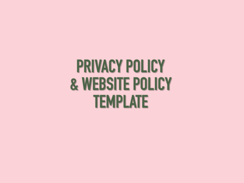 privacy policy website policy templates uk