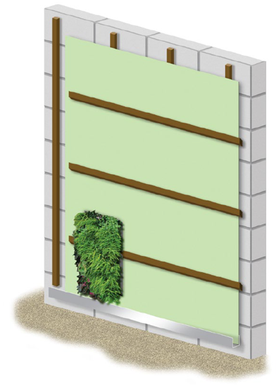 Fully-established Living Wall module begins installation