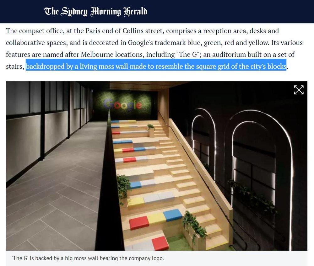 Google Moss Wall_SMI National_Sydney Morning Herald Article.JPG