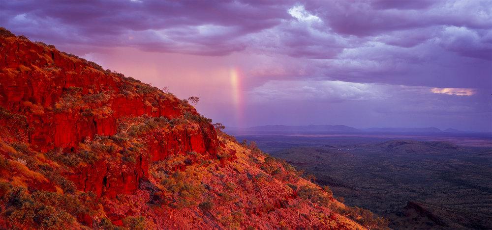 View Looking East past Mt Sheila, Hamersley Range, Western Australia, 2014. Edition of 3.
