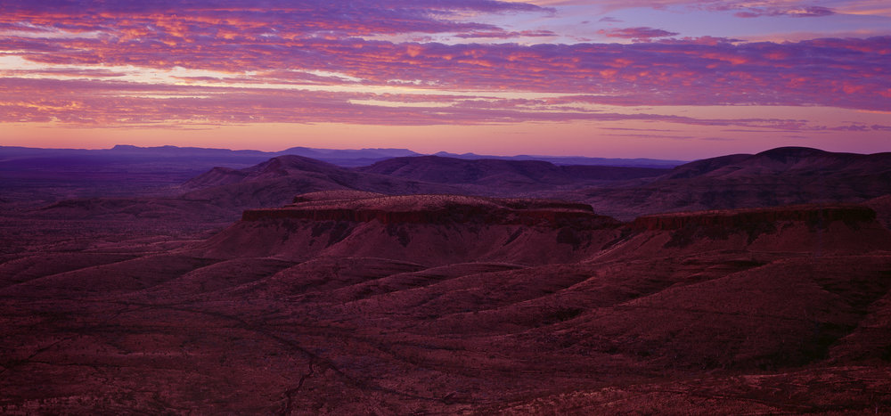 The View from Mt Sheila, Tom Price, Western Australia, 2015. Edition of 3.