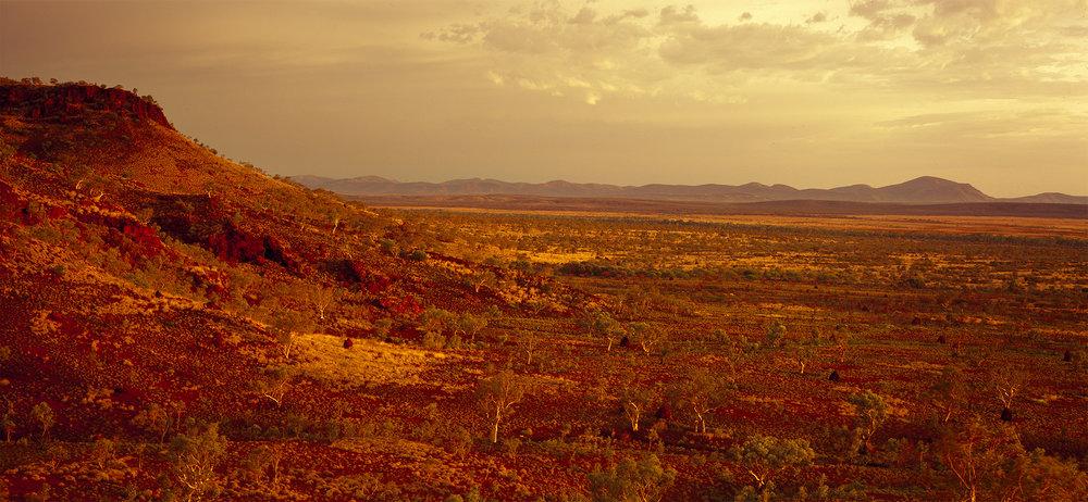 View Looking Toward Mt Brockman Across the Namuldi Flats, Hamersley Range, Western Australia, 2015. Edition of 3.