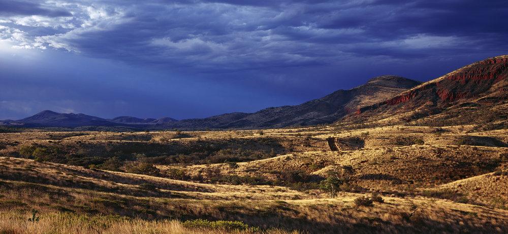 Summer Storms, Looking towards Mt Turner, Paraburdoo, Western Australia. Edition of 3.