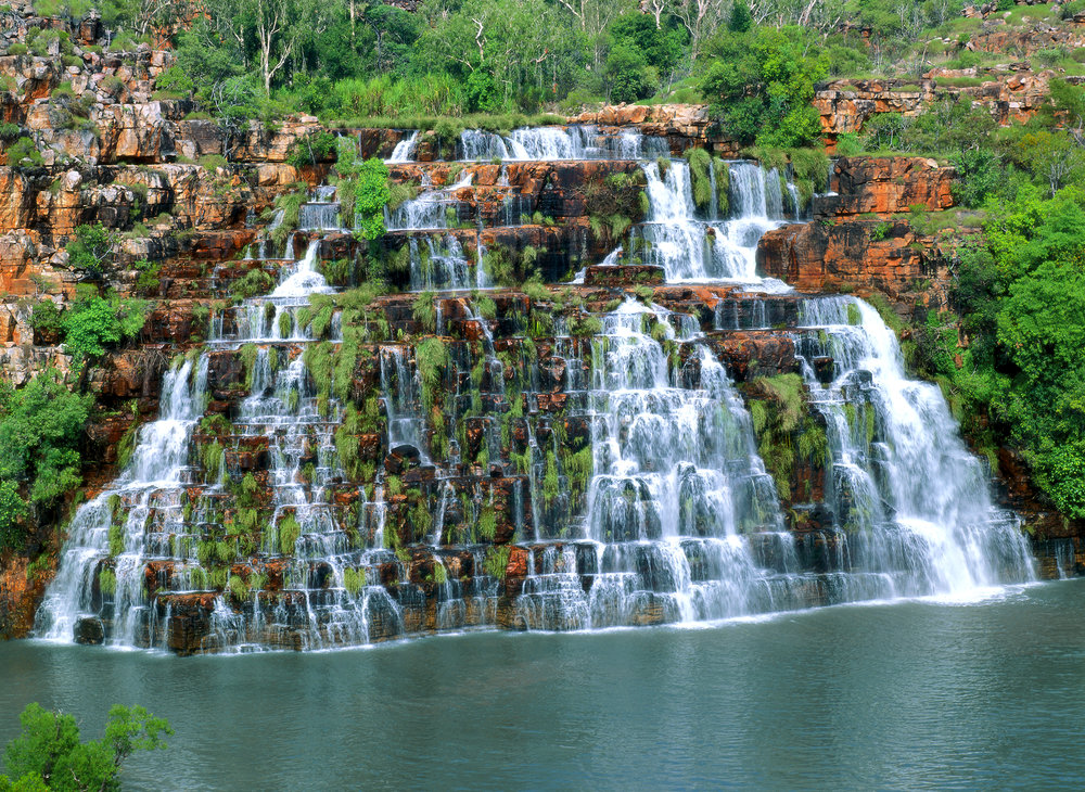 King Cascade, Prince Regent River, Kimberley, Western Australia, 2000.  Edition of 100.