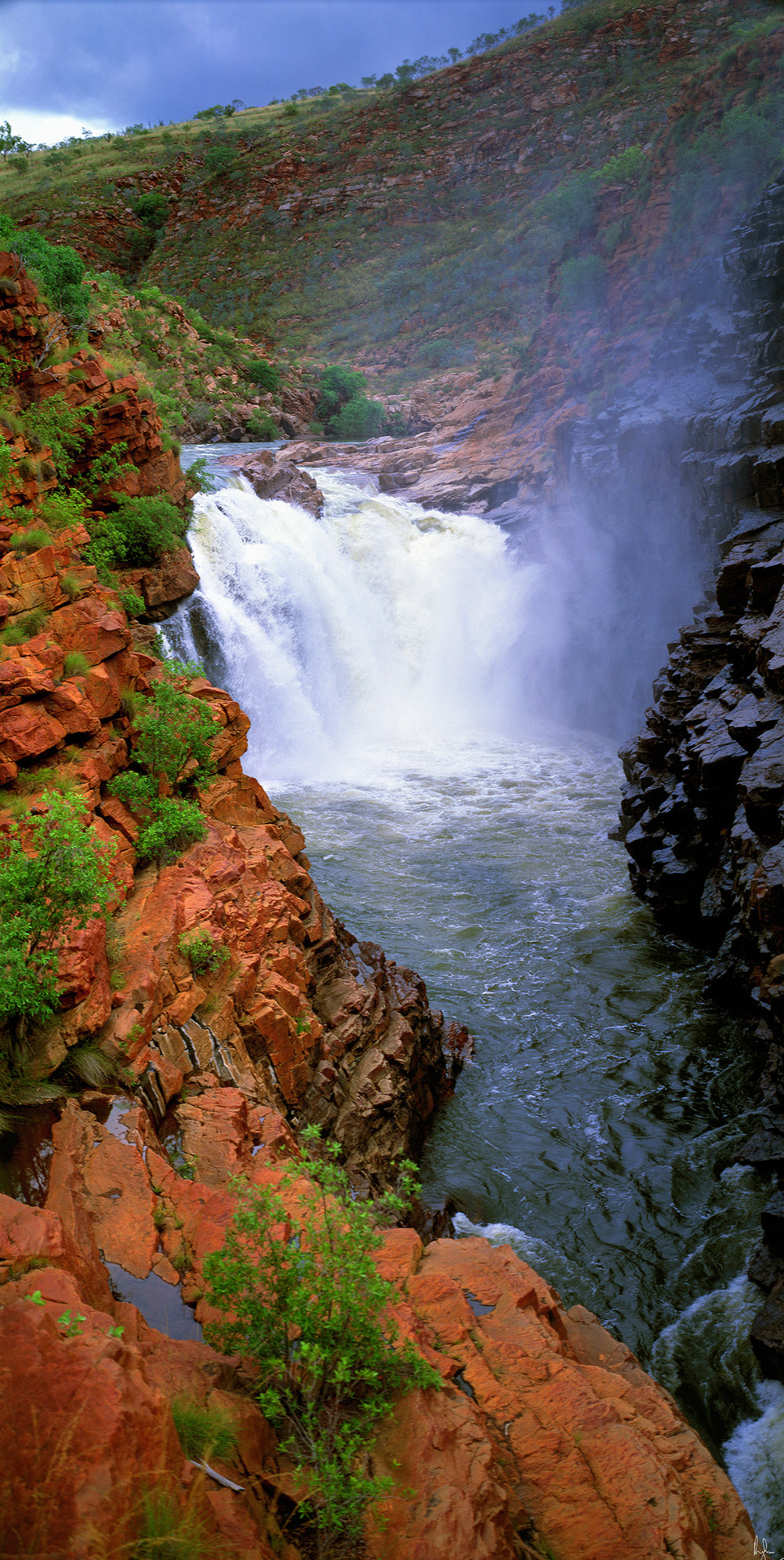 Lennard Gorge in Wet Season Flow, Kimberley, Western Australia, 2006.  Edition of 3.