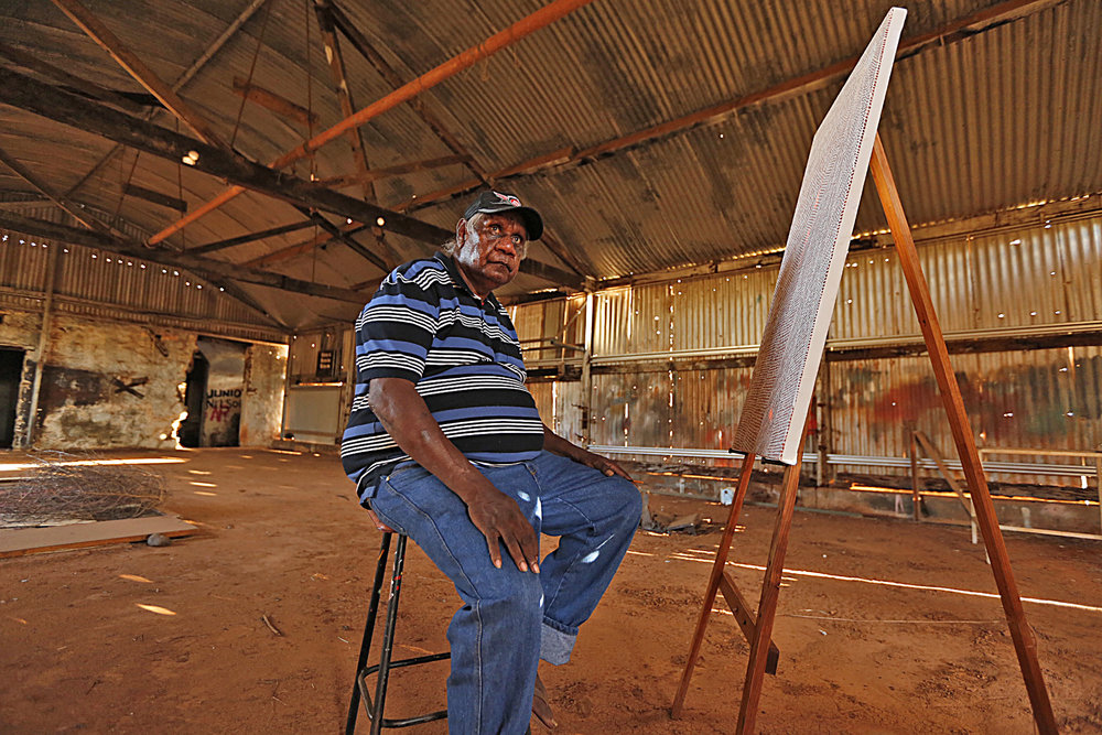 Clifton Mack, Artist, Roebourne, 2013.  Edition of 3.