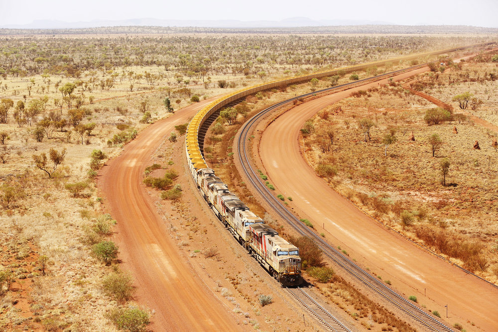 Iron Ore Train, Hamersley Station, Pilbara, Western Australia, 2016.  Edition of 3.