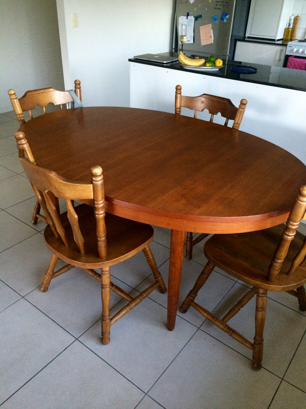 Before – with the old chairs