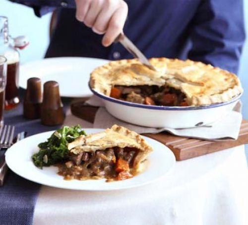 Wednesday - Beef, ale and mushroom pie with mushy peas