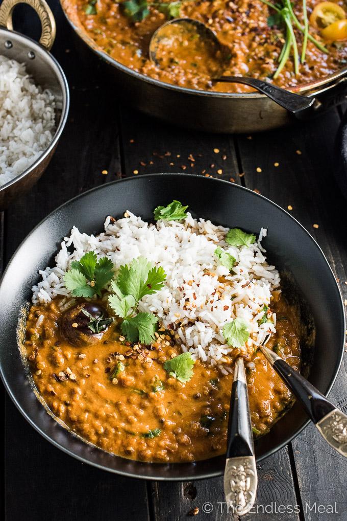 Thursday - Creamy coconut lentil curry