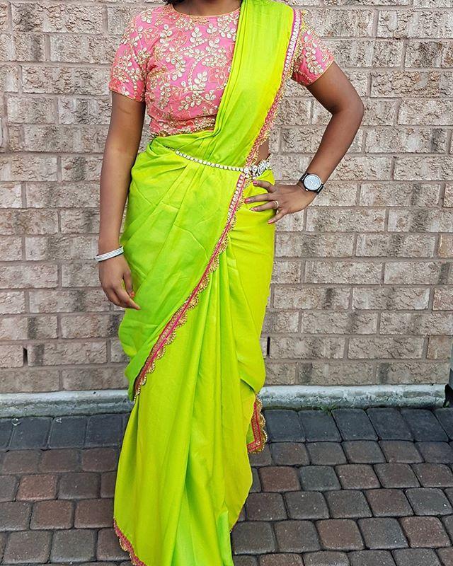 Green and Pink HerBiscus. #custommadesaree #custommadeblouse #designyourown. . . #Avalina #ootd #couture #boutique #designer #designerfashion #bollywood #bollywoodfashions #punjabifashion #pakistanifashion #newtrend  #saree #custommade #lehenga #green #toronto #lifestyle #floral #fashiondesigner #womensfashion #trendsetting #style #trendy #gorgeous #hamilton #gta