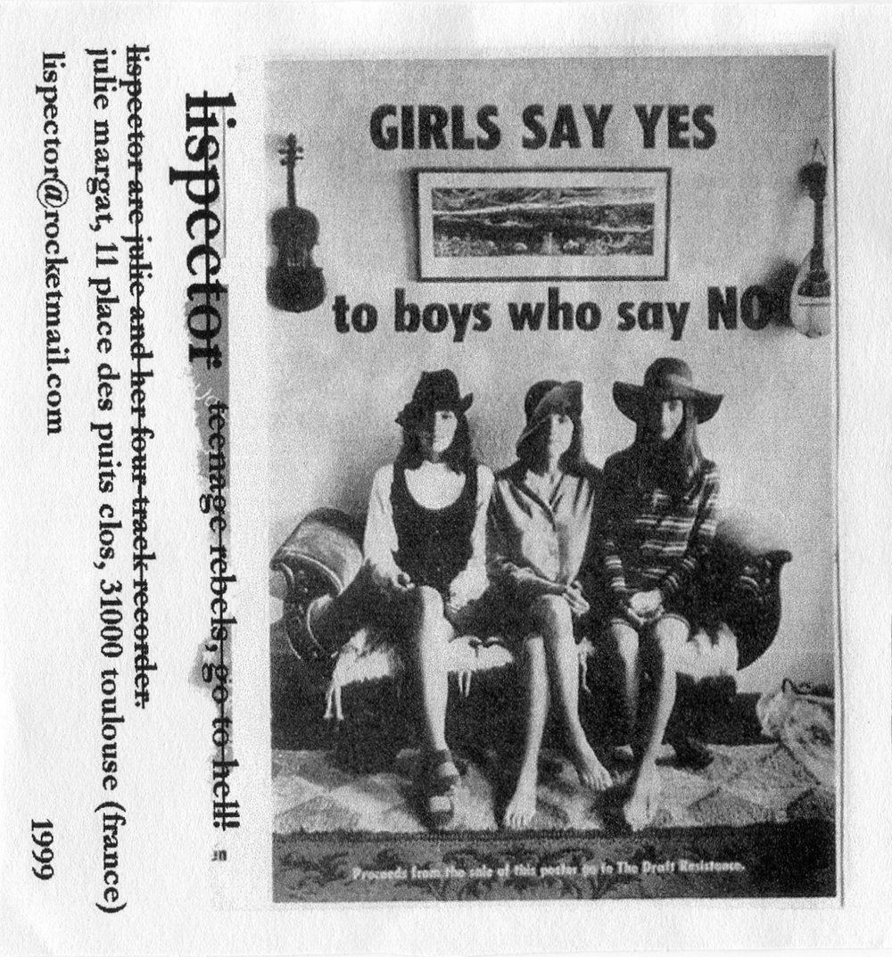 1999 - Lispector - Girls Say Yes To Boys Who Say No - Cover FRONT.jpg