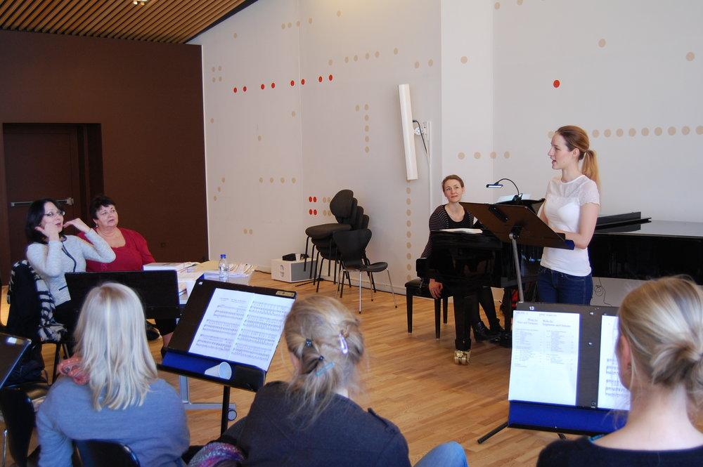 Masterclass med den verdensberømte sopran Monica Groop (2015). Foto: Det Jyske Musikkonservatorium