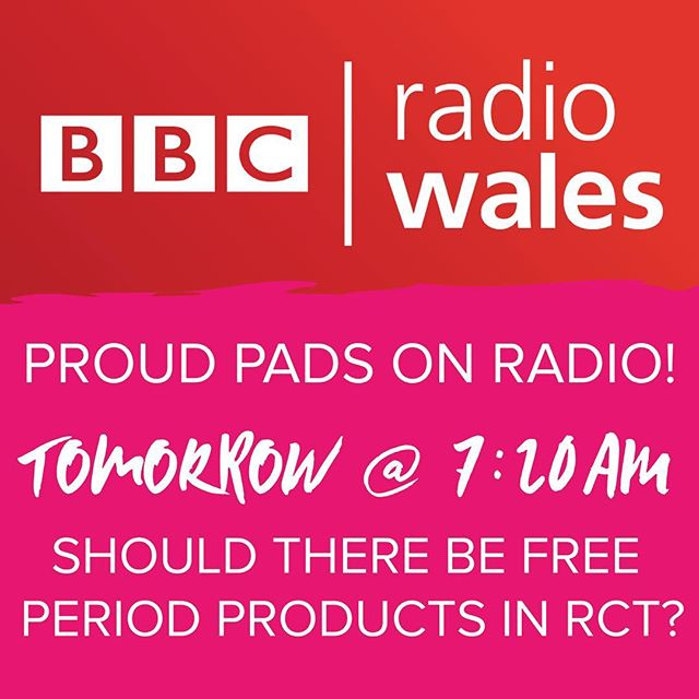 We're gonna be on BBC Radio Wales tomorrow giving our opinion on free period products in Rhondda schools! Please tune in and show your support on social media! What do you guys think? Should schools give out free period products to girls missing school because they can't afford them? #periodproblems #period #periodcramps #periodsbelike #periodpoverty #periodpain